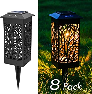 OxyLED Solar Path Lights, LED Garden Pathway Lights Solar Powered, Auto On/Off Decorative Landscape Lighting Security Light for Yard Patio Lawn Backyard Driveway Halloween Christmas (8-Pack)