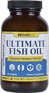 Infowars Life Ultimate Fish Oil (60 Softgel) - Fish Oil, Omega 3, Vitamin D & E Supplement