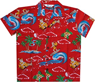 boys christmas hawaiian shirt