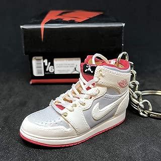 Air Jordan I 1 Retro Hare Bugs Bunny WB OG Sneakers Shoes 3D Keychain Figure 1:6 + Shoe Box