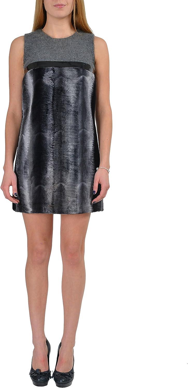 DSQUARED2 Wool Cashmere Gray Sleeveless Women's Shift Dress US S IT 40