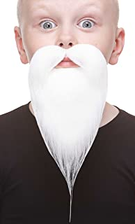 Mustaches Fake Beard, Self Adhesive, Novelty, Small Philosopher False Facial Hair, Costume Accessory for Kids