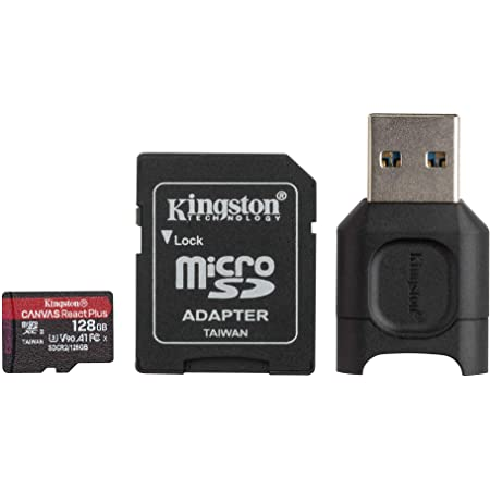 100MBs Works with Kingston SanFlash Kingston 128GB React MicroSDXC for Alcatel 4032X with SD Adapter
