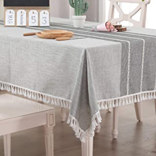 Vailge Table Cloth Cotton Linen 140x180cm, Dinning Table Cover Waterproof, Washable Table Linen for Dinning Kitchen Party,...
