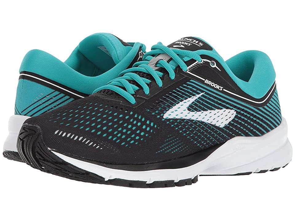 Brooks Launch 5 (Black/Teal Green/White) Women