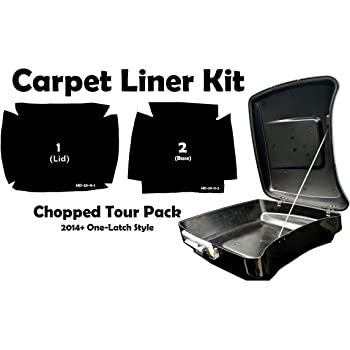 Extended Saddlebag Carpet Liner Kit for 2014-2018 Harley-Davidson 4 or 4.5 Stretched ABS One-Touch Saddlebags CaliBikerClub 4333310424 Graphite