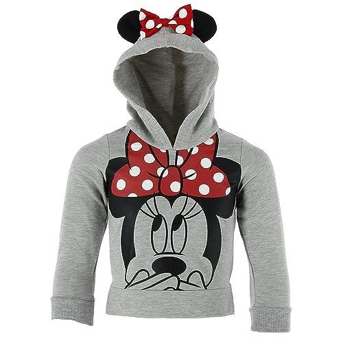 c611c0231 Disney Minnie Mouse Little Girls Lightweight Hoodie Shirt