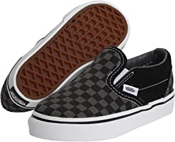 1f75152d25 (Checkerboard) Black Pewter. 2013. Vans Kids. Classic Slip-On ...