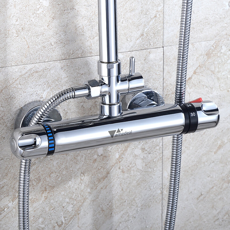 Amzdeal grifo termostatico ducha griferia termostatica ducha ...