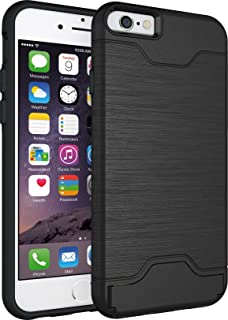 Coosin, IPhone 6 6s (Armor Series) Heavy Duty Dual Layer Shockproof Silicone Phone Protection Case TPU Hybrid Slim Fit Cover for IPhone 6 and IPhone 6s (Black)