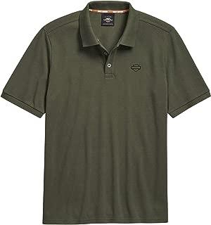 Men's Open Logo Polo, Olive Night