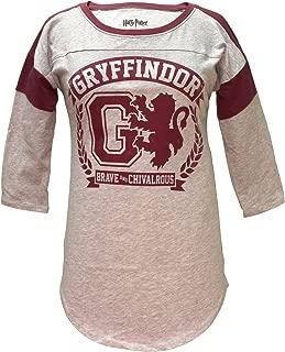 HARRY POTTER Gryffindor Raglan Athletic Tee Shirt T-Shirt