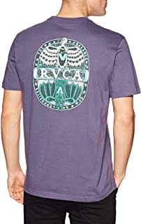 RVCA Opposites Short Sleeve T-Shirt Large Purple Jade