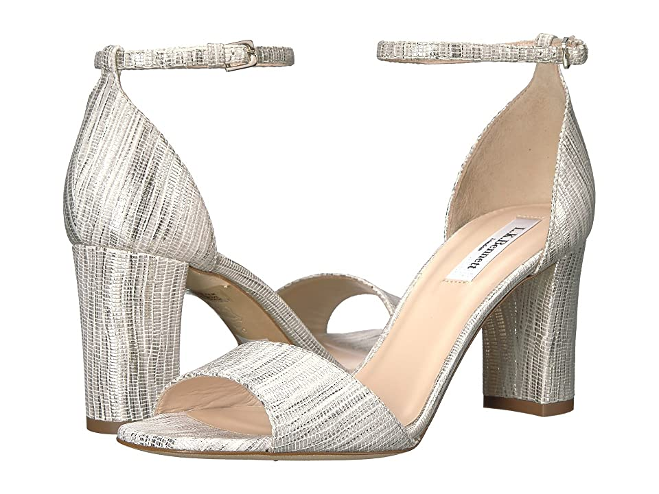 L.K. Bennett Helena (Cream Striped Metallic Lizard) High Heels
