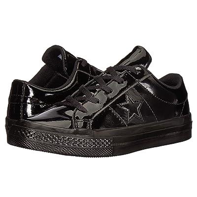 Converse Kids One Star Ox (Little Kid) (Black/Black/Black) Girls Shoes