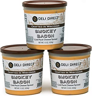 Wisconsin Cheese Spread - Smokey Bacon (3 Pack of 15oz. Each Containers)