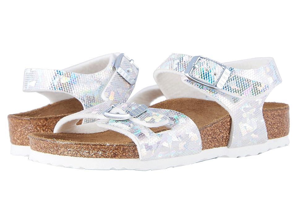 Birkenstock Kids Rio (Toddler/Little Kid/Big Kid) (Hologram Silver Birko-Flor) Girls Shoes