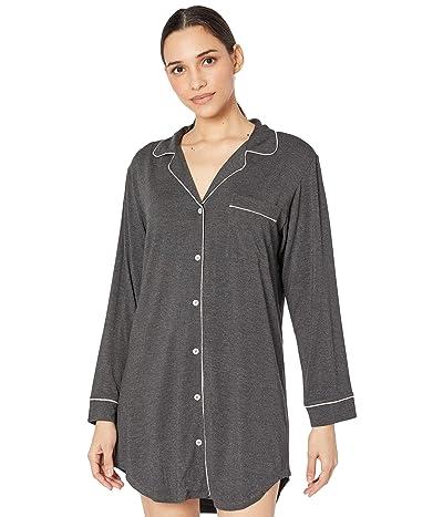 Eberjey Gisele Sleepshirt (Charcoal Heather/Sorbet Pink) Women