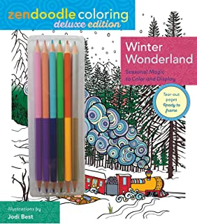 Zendoodle Coloring: Winter Wonderland: Deluxe Edition with Pencils