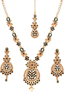 Touchstone Indian Bollywood Replica A Wow Master Mughal Kundan Look Designer Jewelry Creation Grand Bridal In Gold Tone Fo...