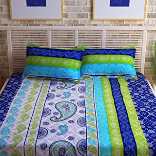 Story at Home Flat Double Bedding Set, Blue, 225 x 235 cm, CN1435