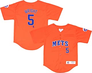 Outerstuff David Wright New York Mets #5 Orange Youth Player Fashion Jersey