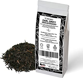 Earl Grey Schwarzer Tee entkoffeiniert. Mit seinem klassischen Bergamottengeschmack. Hochwertiger Ceylon-Tee. Antioxidant. Maximaler Koffeingehalt: 0.4%. 100g