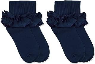 navy blue ruffle socks