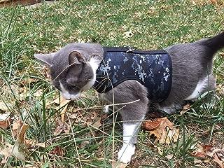 CrazyKFarms Kitty Holster Cat Harness - Camo - Navy Blue
