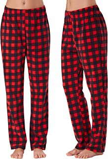 Women's Cozy Plaid Separate Flannel Pant Stretch Thick Sleepwear