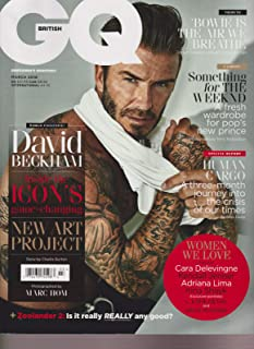GQ Magazine, March 2016 BRITISH EDITION [David Beckham cover]