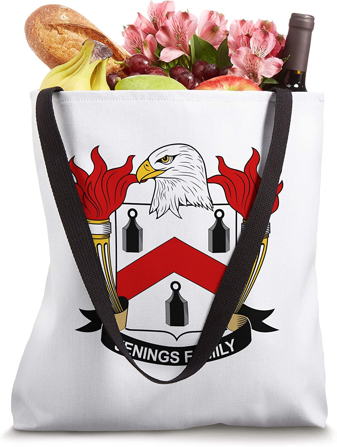 Jenings Coat of Arms - Family Crest Tote Bag