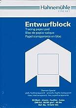 Hahnemühle TRANSPARENT Entwurfblock, 60 Blatt, 90g, DIN A4