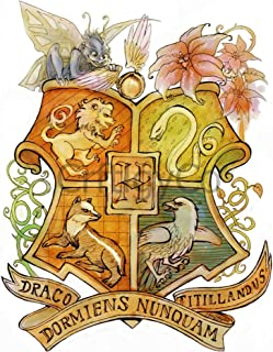 Hogwarts Crest, Harry Potter DIY 5D Diamond Painting Kit, Mosaic Diamonds Kit, Full Square/Round Drill 30cm X 40cm