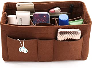 AMASSAN-Portable Multi-function Purse Organizers Insert Handbag Organizer Bag in Bag