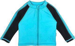 SwimZip Kids Long Sleeve Zipper Rash Guard UPF 50+ (Multiple Colors)