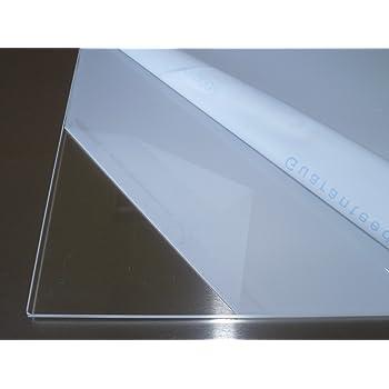 beidseitig foliert 4,0 mm stark Wunschma/ß Zuschnitt bis Gr/ö/ße 20 x 40 cm B/&T Metall Acrylglas PMMA XT Platte transparent UV-best/ändig 200 x 400 mm