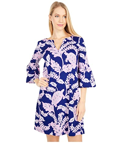 Lilly Pulitzer Tosha Dress (Galaxy Blue What The Shell) Women