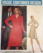 Vintage VOGUE COUTURIER DESIGN PATTERN #1103 SIZE: 14 **MISSES' SEMI-FITTED DRESS** A Belinda Bellville Pattern