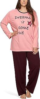 Moonline Plus - Pijama de Mujer en Tallas Grandes (XL-4XL) con Estampado 'Dreams Come True'