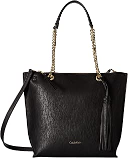 Unlined Novelty Top Zip Tote