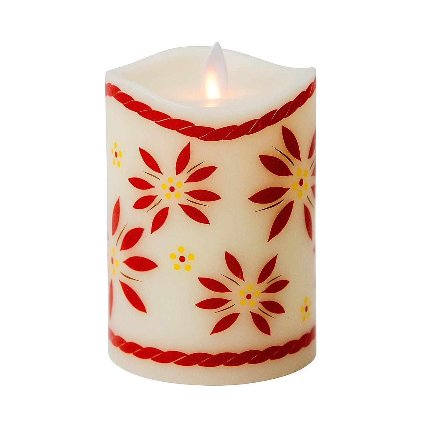 もう一度全くマザーランドBoston Warehouse temp-tations by Tara Mystiqueパラフィンワックス5インチOld World Flameless Pillar Candle レッド 40441
