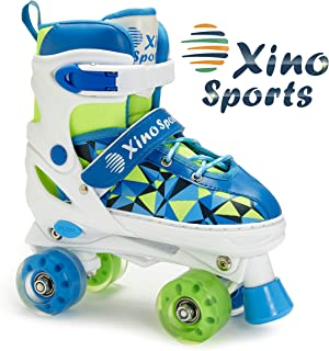 XinoSports Adjustable Roller Skates for Children - Featuring PU Wheels, Awesome-Looking, Safe and Durable Roller Skates, Perfect for Boys and Girls!