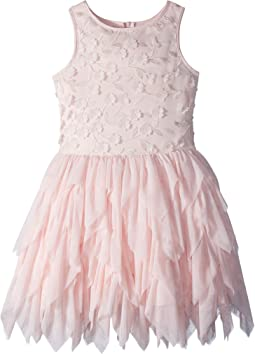 Nanette Lepore Kids Embroidered Tulle Dress w/ Matte Satin (Little Kids/Big Kids)
