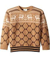 Gucci Kids - GG/Reindeer Jacquard Sweater (Little Kids/Big Kids)