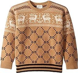 GG/Reindeer Jacquard Sweater (Little Kids/Big Kids)