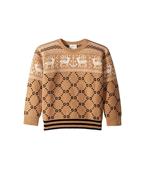 cc0190247dc8 Gucci Kids GG Reindeer Jacquard Sweater (Little Kids Big Kids) at ...