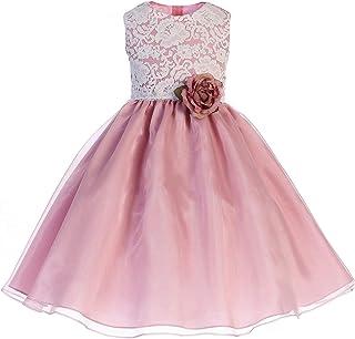 7cfb07e013 Crayon Kids Little Girls Dusty Rose Floral Lace Easter Flower Girl Dress  2T-6