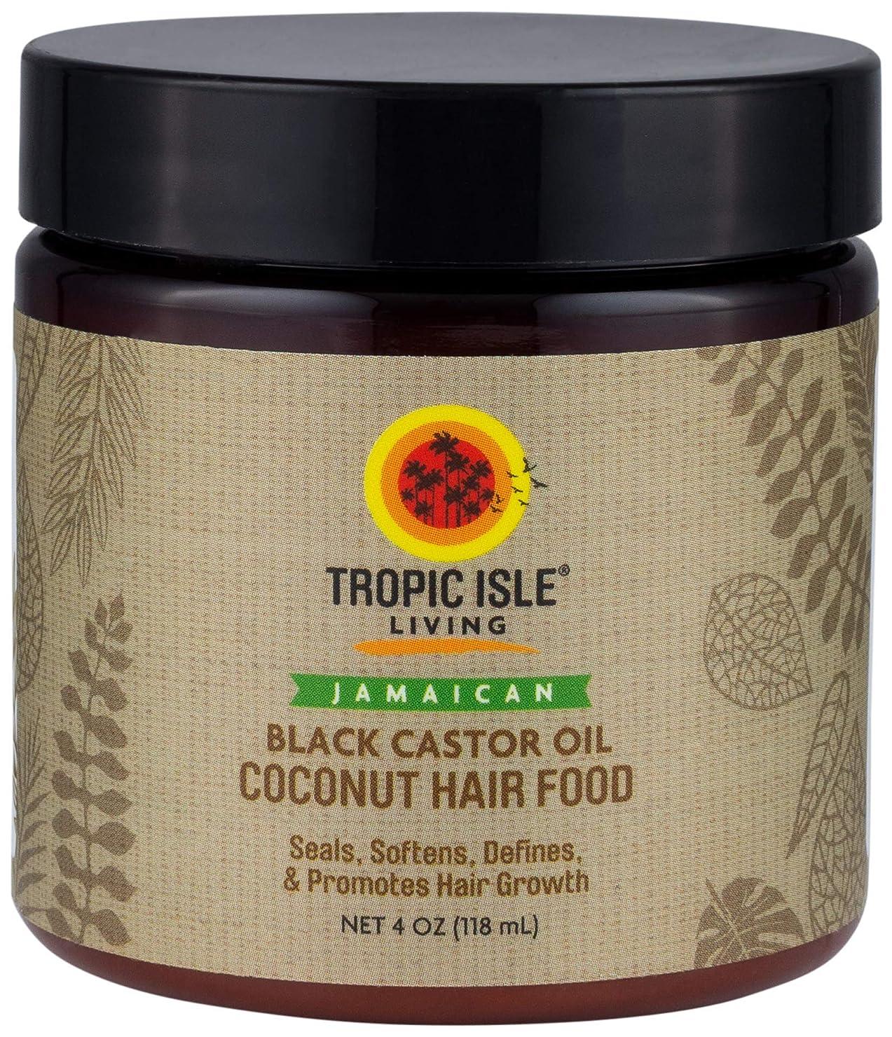 慣性締める無声でTropic Isle Living ココナッツジャマイカブラックヒマシ油髪の食品(4オンス/118ミリリットル) Coconut Jamaican Black Castor Oil Hair Food (4 oz/118 ml)
