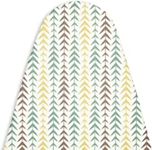 Encasa Homes Replacement Ironing Board Cover with Thick Felt Pad, Drawstring Tightening, (Fits Standard Large Boards of 15 x 54 inch) Scorch & Stain Resistant, Printed - Multiarrow
